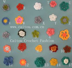 Attic24: Crochet Flowers and Leaves