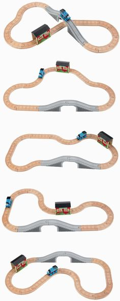 Amazon.com: Thomas Wooden Railway - 5-in-1 Up and Around Set: Toys & Games