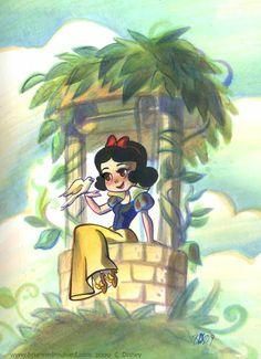 Chibi Snow White | Branca de Neve chibi da Brianne é uma lindezinha! Seu cenário é ...