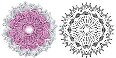 Share Knit and Crochet: Crochet flowers diagram 7
