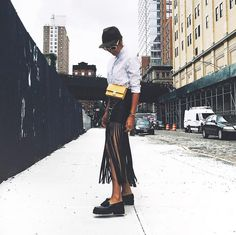 9 Awesome Blogger Outfit Ideas from Fashion Week via @WhoWhatWear
