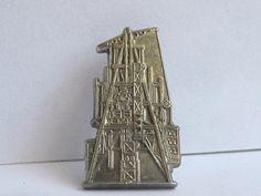 Fathers Day gift Vintage Oil Derrick Tie Tac by BetterWythAge, $49.00