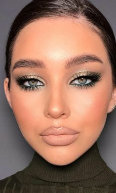 Glam Makeup Look, Makeup Eye Looks, Smokey Eye Makeup, Cute Makeup, Pretty Makeup, Skin Makeup, Beauty Makeup, Party Makeup Looks, Eyeshadow Makeup