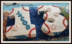 13th birthday cake baseball theme by Sugar Buzz Cakes by Carol, via Flickr