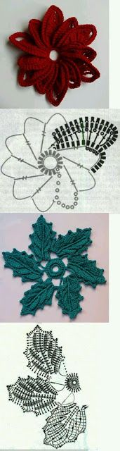 crochet flowers pillow -- wish I knew how to crochet! almofada com flores de crochet aplicadas Freeform Crochet, Crochet Diagram, Thread Crochet, Irish Crochet, Crochet Motif, Crochet Crafts, Crochet Projects, Diy Crochet, Crochet Leaves