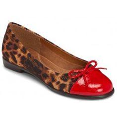 Aerosoles Bectify Leopard Captoe Flats #shoes