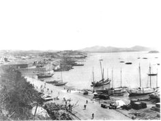Chemulpo, Korea, from the Consulate [View from British Consulate above harbour and town]. May 1903   Photographer: Gertrude Bell