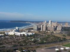 Fantastic view of Durban from the top of Durban City Fifa Stadium.