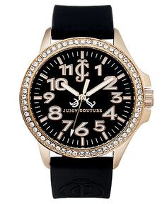 Juicy Couture Watch, Women's Jetsetter Black Silicone Jelly Strap 38mm  $195.00