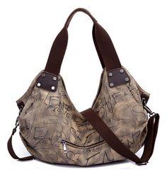 Female bag 2015 Korean Fashion Women Canvas Handbags Big Shopping Bag   Casual Shoulder Bag Letters Tote Bag Larger Size  A265 - best Shoulder Bags from bags-master.com