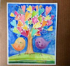 My Favorite Things original watercolor painting by LaurenAlexander, $80.00