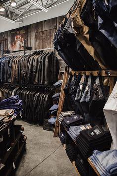 Custom clothes rack • Photography by Luis Valdizon • #interiors #menswear #shop #boutique #antique #scottandon #architecture #vintage #design