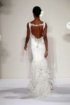 """I love the way Pnina always creates an unexpected """"wow"""" factor with the backs of her gowns."""