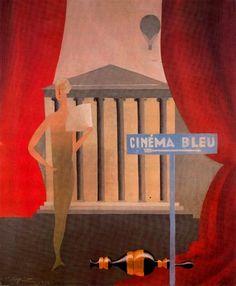 Blue Cinema - Rene Magritte, 1925.