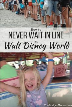 Tips and tricks to help you never wait in line at Disney World! How to use crowd calendars, Fastpasses, planning and more to avoid crowds at Disney. #disneyworld #familytravel #disneyplanning