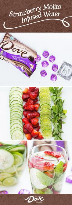 It's the little things that help make your day sweeter. Take this recipe for Strawberry Mojito Infused Water for instance! Using just a few ingredients, you can unwind with this refreshing beverage in hand. Plus, DOVE® Chocolate Promises® make the perfect pair to this deliciously relaxing moment. Make sure to shop at Walgreens to find everything you need to make treat yourself throughout your week.