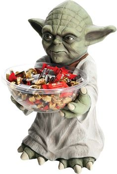 May the force be with you this Halloween! Star Wars Yoda Candy Bowl Holder