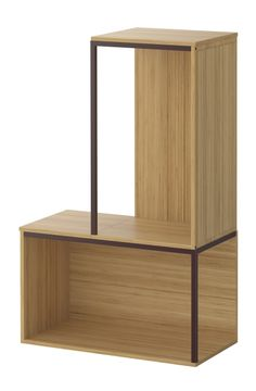 If you are reluctant to try out new, trendy colors, like Marsala, Pantone's Color of the Year for 2015, start with small accents.  IKEA PS 2014 storage modules are made with bamboo and a hint of painted metal. Ikea Ps 2014, Cube Storage, Storage Shelves, Shelf, Kallax, Ikea Shelving Unit, Marsala, Ikea Regal, Houses