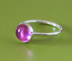 Round+Pink+Sapphire+Ring++Size+2+to+15+by+BirkaScandinavian,+$20.00