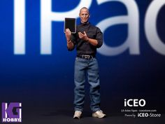 1/6 iCEO action figure-Custom STEVE JOBS figure with 1/6 computer and phones - KGHobby Toys and Models Store