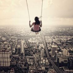 emotion dreams, behance, fine art photography, perspective photography, swing, digital photography, feelings, bucket lists, forced perspective