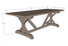 All the plans to make your own farm house table for only $65.00!!