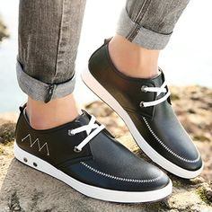 Men Lace Up Soft Leather Oxfords Soft Sole Formal Business Shoes - US$42.80