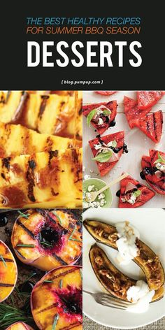 Yeah, we know. You can grill fruit? Yes. Yes you can. Have your sweet treat, without the guilt. These are our favorite grilled fruit recipes for BBQ season. // PumpUp Blog Favorites Healthy Eating Recipes, Fruit Recipes, Healthy Desserts, Summer Potluck, Grilled Fruit, Healthy Summer, Grilling Recipes, Bbq, Cooking