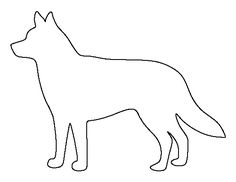 Husky pattern. Use the printable outline for crafts, creating stencils, scrapbooking, and more. Free PDF template to download and print at http://patternuniverse.com/download/husky-pattern/
