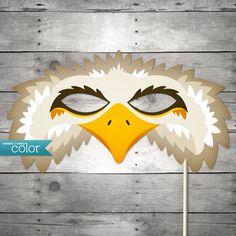 DIY Printable Eagle Mask - Halloween, Birthdays, masquerade ball, mardi gras, and weddings. $4.99, via Etsy.