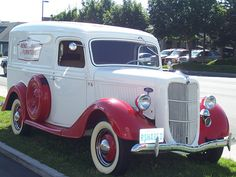 1936 Ford Panel delivery truck The Truck of my Dream . Antique Trucks, Vintage Trucks, Antique Cars, Vintage Auto, Cool Trucks, Cool Cars, Classic Trucks, Classic Cars, Old Ford Trucks