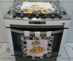 Pintado com patch aplique em 3D,faço em outras cores de tecido, Por Favor Informe o fogão de quantas bocas, 4,5,6 bocas.