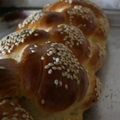 This Jewish egg bread is mixed in the bread machine, then braided and baked in the oven.