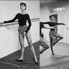 Audrey at the barre<3