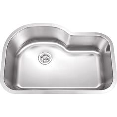 With a 9-inch sink depth, this single-bowl kitchen sink can hold large cookware, and the curved design near the rear provides extra room for you to maneuver. The rear drain placement offers additional storage space in the cabinet below the sink.