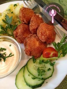 Rántott gomba petrezselymes burgonyával és tartárral | | Sylvia Gasztro Angyal Minden, Ethnic Recipes, Food, Eten, Meals, Diet