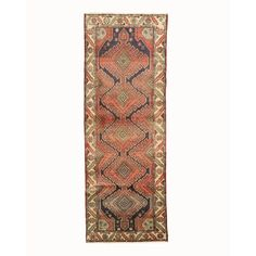 Eastern Rugs Hamedan Hand-Knotted Navy Area Rug