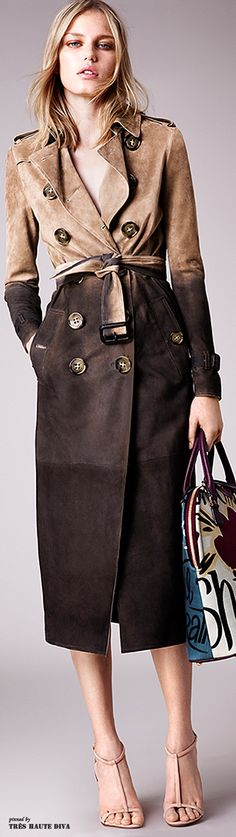 Burberry Prorsum Resort 2015 Fashion Show - Marique Schimmel Burberry Prorsum, Burberry 2015, Burberry Trench, Burberry Women, Look Fashion, Winter Fashion, Fashion Show, Womens Fashion, Fashion Design