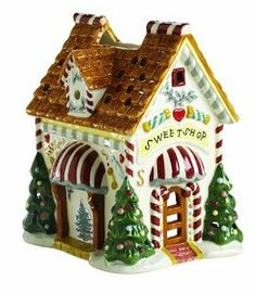 Spode Christmas Tree Sweet Shop Votive by Spode. $29.99. Crafted from high-quality, hand-painted earthenware. Artfully decorated with festive trees and holiday sweets. Spode Christmas Tree sweet shop votive. Measures 4-1/2 by 5-3/4 by 6-1/2 inches. Matches Spode Christmas Tree dinnerware, serveware, and accessories. Amazon.com                The Spode Christmas Tree collection is one of the most recognizable Christmas dinnerware patterns in the world. Since 1938 the...