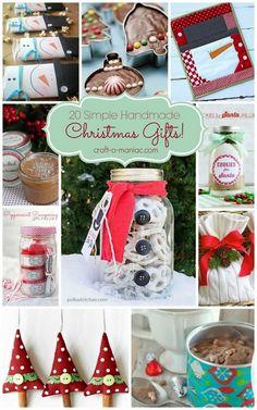 20 Simple Handmade Christmas Gifts #handmadechristmasgifts #handmadegifts