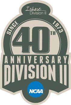 NCAA  Anniversary Logo (2013) - NCAA Division II 40th Anniversary logo