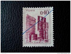 0.40 DINARA JUGOSLAVIA LUKAVAC POST USED STAMP TIMBRE - 1945-1992 Socialist Federal Republic Of Yugoslavia