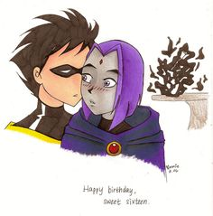 Since there was a limited number of Raven and RedX fanfictions, i decided to stop being picky and read RobRae ones. honestly Raven is just H-O-T and she makes any couple grea. Teen Titans Love, Robin And Raven, Rivamika, Damian Wayne, Bird Feathers, Mystic, Disney Characters, Fictional Characters, Marvel