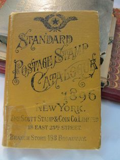 Standard Postage Stamp Catalog 1896 Antique by LeapingFrogDesigns, $65.00