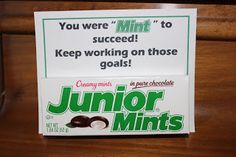 """Personal Progress: You were """"mint"""" to succeed--Junior Mints"""
