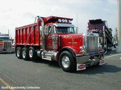 dump truck | peterbilt_dump_truck_red