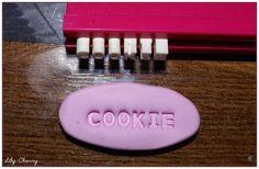 Kit lettres de l'alphabet et chiffres 3-4mm pour impression pâte polymères faux cookies etc gâteau gourmandises kawaii : Pâtes polymères et accessoires par lilycherry