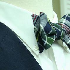 Madras plaid bow Tie -Kennebunkport