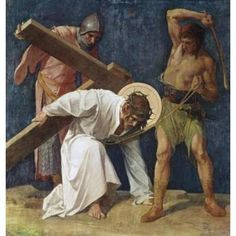 Jesus Falls the First Time (3rd Station Of The Cross), 1898, Martin Feuerstein (1856-1931 French), Saint Anna Church, Munich, Germany