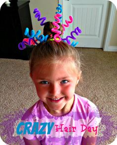 use pipe cleaners for crazy hair day